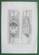 ARCHITECTURE PRINT : Clock in Cathedral of Reims France