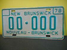 1978 New Brunswick Vehicle Sample License Plate,Tag,Canada,SAMPLE,00-000