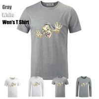Cute Albert Einstein Cartoon Graphic Long Short Sleeves Men's Boy's T-Shirt Tops
