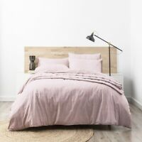 Park Avenue Paradis washed Chambray Quilt Cover set -Plum
