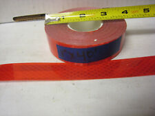 "BRIGHT RED  Reflective   Conspicuity  Tape 1"" x 40'"