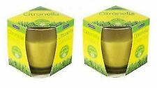 2 Pack Outdoor Garden Summer Citronella Candles Anti Fly Mosquito Gass Jar