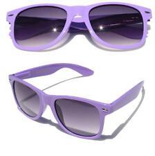 Neon Purple horned rim sunglasses gradient lens 80's vintage retro classic fun