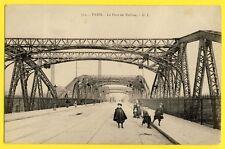 cpa FRANCE 75 - PARIS en 1905 Le PONT de TOLBIAC à Anna FUCHS de MIRECOURT