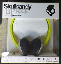 SKULLCANDY UPROCK HEADPHONES LIME/GREY BNIB