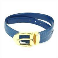Louis Vuitton belt Epi Blue Woman Authentic Used T9170
