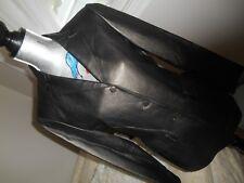 JONES NEW YORK* LEATHER JACKET Blazer CAR COAT Metallic/BRONZE/Black Sz:10