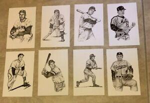 LOT 8 Postcard 1989 Ted Williams Thumper Litho Baseball Snider B Robinson Rose
