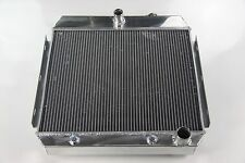 New FULL POLISHED ALUMINUM RADIATOR CHEVY V6 BEL-AIR NOMAD 1955-1957