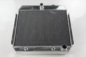 1955-57 CHEVY DIRECT FIT ALUMINUM RADIATOR POLISHED NOMAD BEL-AIR NEW