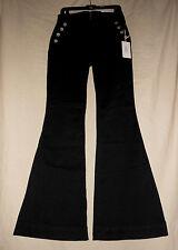 MCGUIRE 29 NWT Black Nautical Sailor Wide Leg Bell Bottom Pants Rockabilly 29X35