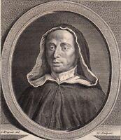 Portrait XVIIIe  Père Michel Le Quien Oratorien Théologien Defense Texte Hébreu
