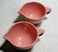 (2) Vintage Pink Rose Melmac Melamine Creamers Boonton Ware 2 Set M9