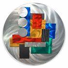 Statements2000 Modern 3D Metal Wall Art Deco Sculpture Accent Blue Red Jon Allen