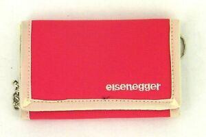 Portafoglio a Libro Uomo-Donna Ragazzo/a ESSENEGGER C115 Rosso Telato