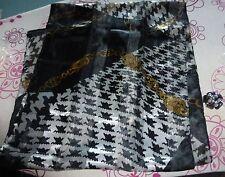 Foulard écharpe + bague anneau - Noir et doré neuf