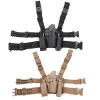 Tactical Drop Leg Holster Pistol Serpa Right Hand For Glock 17 19 22 23 31 32 UK