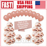 30PCS 12'' Rose Gold Confetti Foil Balloons Set Party Birthday Wedding Decor US