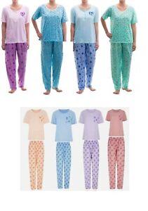 Ladies Short sleeve Pyjamas set PJs Cotton Rich Nightdress Loungewear Nightwear