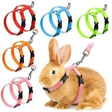 5 Pieces Adjustable Rabbit Harness Leash Bunny Collar Leash Ferret Small Animal