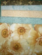 5 YARDS  Quilt Fabric Kit - Wilmington Windsong/Windflower- Blue/Brown Florals