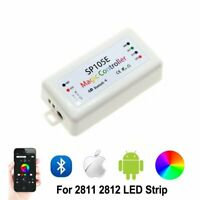 SP105E Controller DC5~24V Bluetooth APP Control WS2811 WS2812B APA102 LED Lights