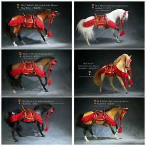 "1/6 Mr.Z MRZ048 Akhal-Teke Horses Animal Model Fit 12"" Soldier Figure"