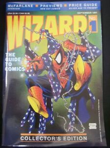 WIZARD 1 2 3 4 5 6 MAGAZINE LOT MCFARLANE SPIDER-MAN BATMAN W/POSTERS 1991 VF-