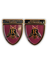 Rushmore Enamel Pins! Punctuality Award AND Perfect Attendance!  Wes Anderson