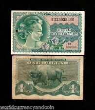 USA UNITED STATES $1 M95 1970 MPC SER692 MILITARY PAYMENT ROMAN ANIMAL BILL NOTE