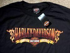 Harley Davidson Live Free Ride Free Black Shirt Nwt Men's Medium