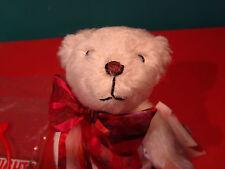 """VTG Merrythought 7 1/2"""" White Perfume Bottle Mohair Teddy Bear LTD ED 292 of 500"""