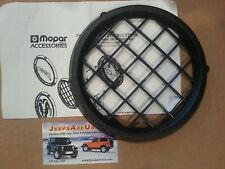 Wrangler TJ Black Mesh Brush Guard Fog Light Foglight Cover Kit Set L/R 82202585