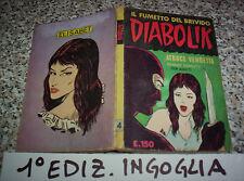 DIABOLIK PRIMA 1° SERIE ORIGINALE N.4 DEL 1963 INGOGLIA M.BUONO TIPO KRIMINAL