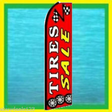 TIRE SALE Red Checkered Flag Feather Swooper Banner