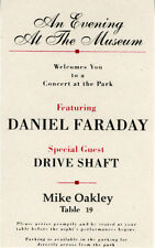 OFFICIAL LOST PROP: MISPRINTED SEATING CARD/FINALE CONCERT/Mike Oakley
