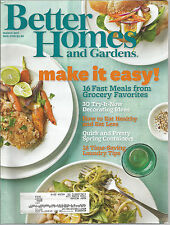 Better Homes and Gardens March 2011 Laundry Tips/Lilacs/Meals of Grocery Favs
