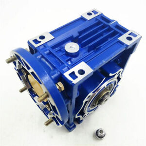 NMRV063 Worm Gear Speed Reducer 19mm 80B14 Ratio 10/15/20/25/30/40/50/60/80: 1