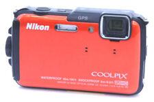 Nikon COOLPIX AW130 16.0MP Digital Camera *Orange *tested *boxed