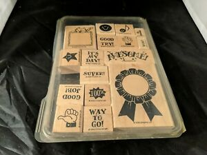 16 Recognition School Rubber Stamps