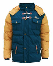 MENS SOUL STAR PADDED HOODED PUFFER PARKA WINTER WARM JACKET COATS REDUCED PRICE