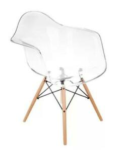 Mid Century Style Eames Clear Plastic Chairs (Set of two *dining/office)