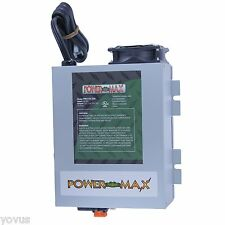 55 AMP PowerMax 220 VOLT AC to 12v DC power supply battery charger maintainer