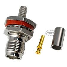 TNC Female Jack Nut Bulkhead Rg58/142/400 Lmr195 RF Coax Connector Adapter Ultra