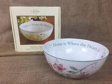 Lenox Butterfly Meadow Home Is Where The Heart Is Sentiment Bowl