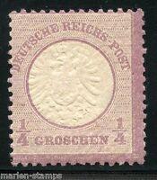 GERMANY 1/4 GROSCHEN EAGLE SHIELD SCOTT#14 MI#16  MINT NEVER HINGED ORIGINAL GUM
