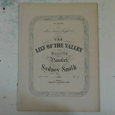 antique salon piano LILY OF THE VALLEY sydney smith
