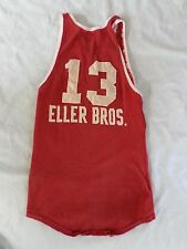 LOWE CAMPBELL true vintage antique red basketball jersey t-shirt shirt 36