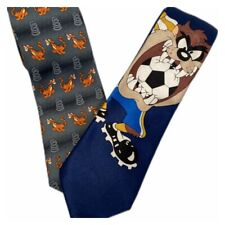 Disney  Store Tigger Tie And Tazmanian Devil Looney Toons Tie For Free