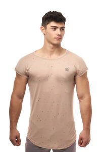 Jed North Capped Athletic Gym Workout Sleeve Tee Fitted T-Shirt Drop Sleeve